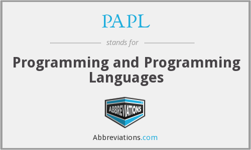 What does PAPL stand for?