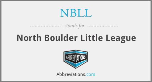 NBLL - North Boulder Little League