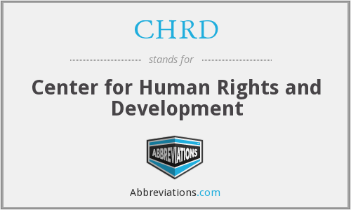 CHRD - Center for Human Rights and Development