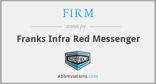 FIRM - Franks Infra Red Messenger