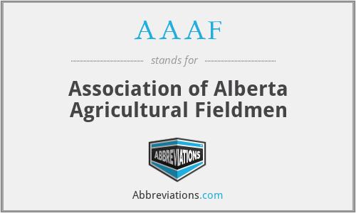 AAAF - Association of Alberta Agricultural Fieldmen