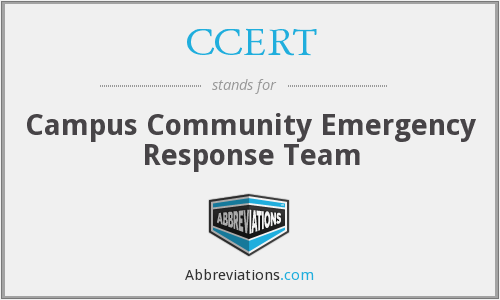 What does CCERT stand for?