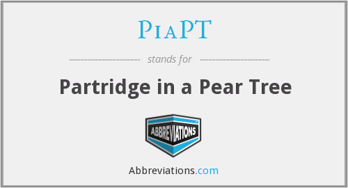 PiaPT - Partridge in a Pear Tree