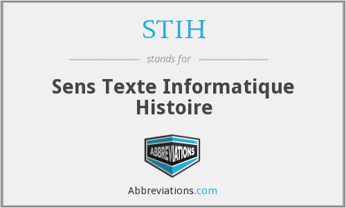 What does STIH stand for?