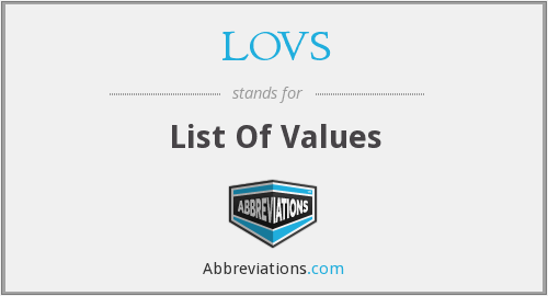 What does LOVS stand for?