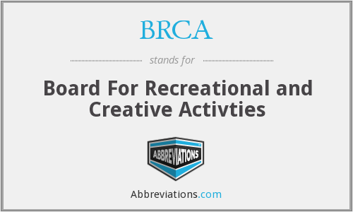 BRCA - Board For Recreational and Creative Activties