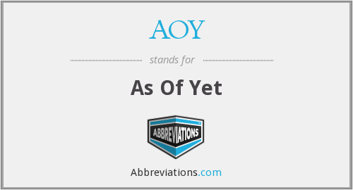 What does AOY stand for?
