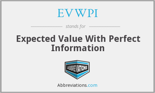 What does EVWPI stand for?