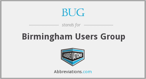 BUG - Birmingham Users Group