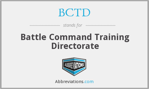 BCTD - Battle Command Training Directorate