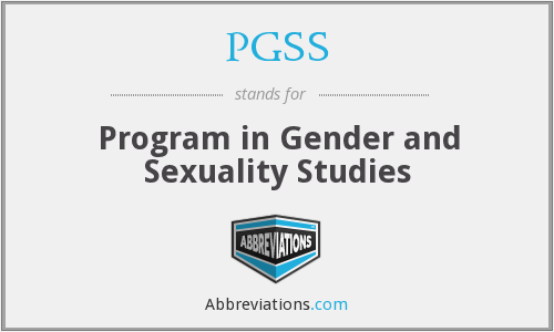 PGSS - Program in Gender and Sexuality Studies