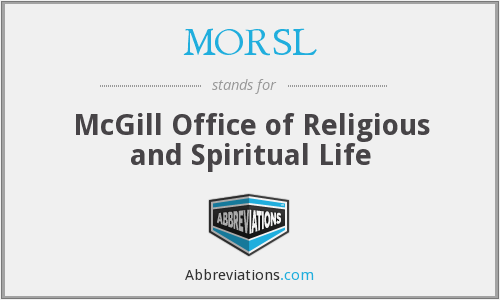 What does MORSL stand for?