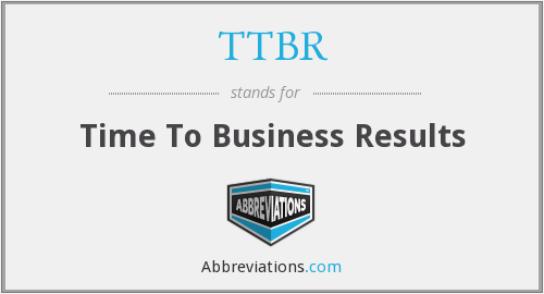 What does TTBR stand for?