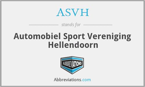 ASVH - Automobiel Sport Vereniging Hellendoorn