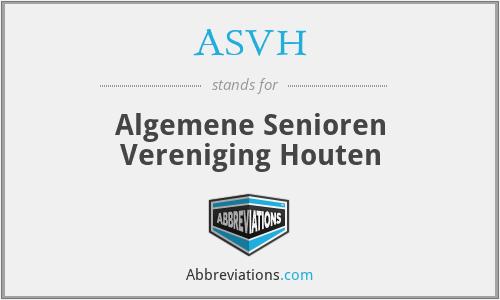 ASVH - Algemene Senioren Vereniging Houten
