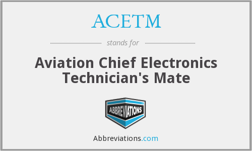 What does ACETM stand for?