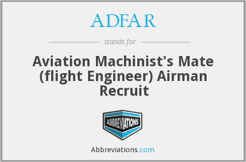 ADFAR - Aviation Machinist's Mate (flight Engineer) Airman Recruit