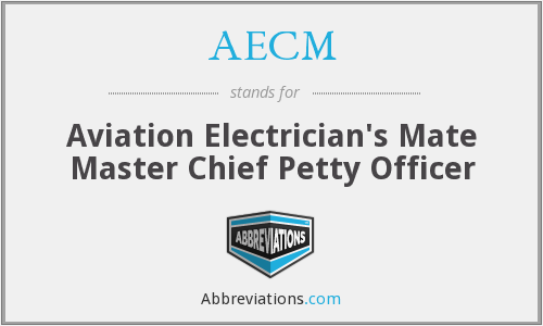 AECM - Aviation Electrician's Mate Master Chief Petty Officer
