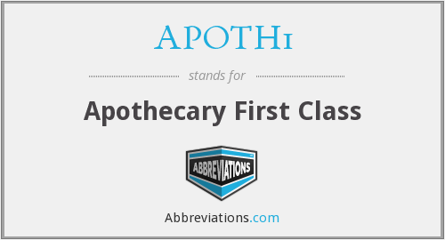 What does APOTH1 stand for?