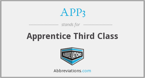 What does APP3 stand for?