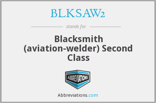 What does BLKSAW2 stand for?