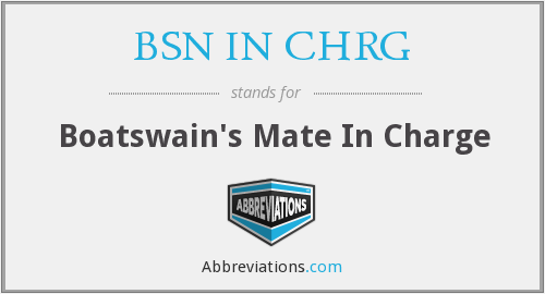 What does BSN IN CHRG stand for?
