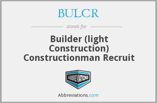 What does BULCR stand for?