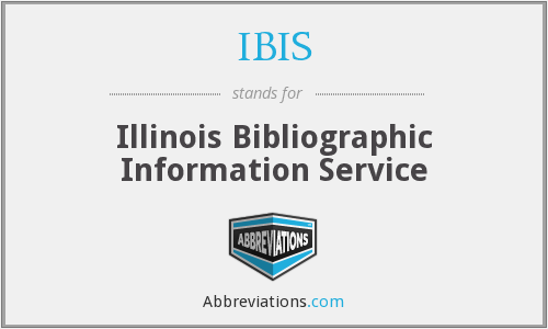IBIS - Illinois Bibliographic Information Service