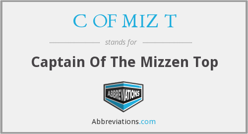 What does mizzen stand for?
