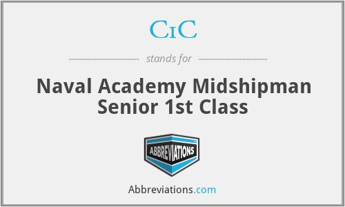 C1C - Naval Academy Midshipman Senior 1st Class