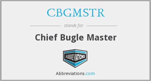 What does CBGMSTR stand for?