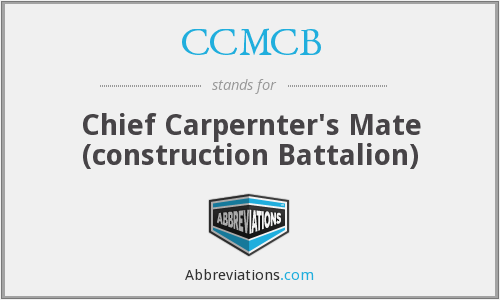 What does CCMCB stand for?