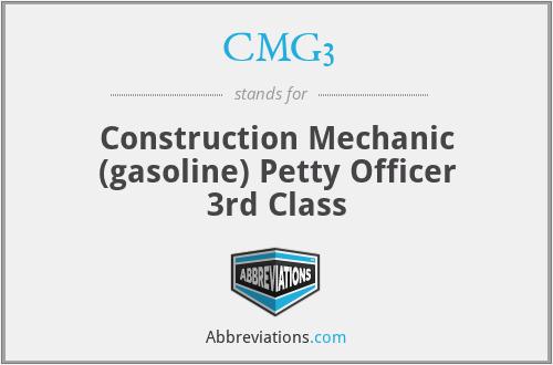 CMG3 - Construction Mechanic (gasoline) Petty Officer 3rd Class