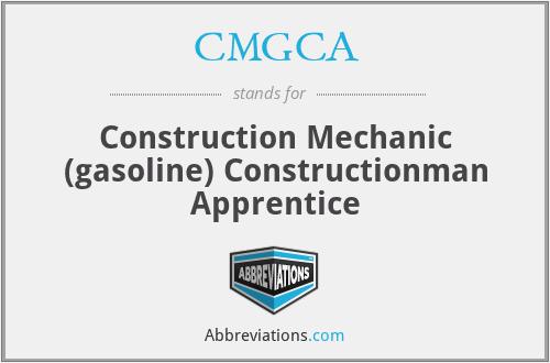 CMGCA - Construction Mechanic (gasoline) Constructionman Apprentice