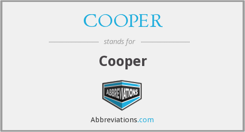 What does COOPER stand for?