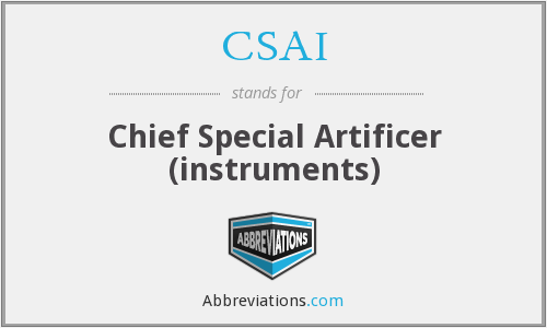 CSAI - Chief Special Artificer (instruments)