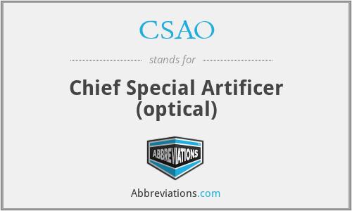 CSAO - Chief Special Artificer (optical)