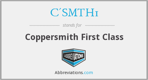 What does C'SMTH1 stand for?