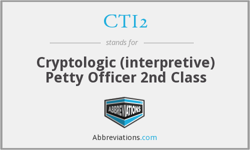 CTI2 - Cryptologic (interpretive) Petty Officer 2nd Class