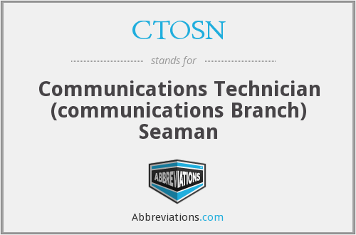 CTOSN - Communications Technician (communications Branch) Seaman