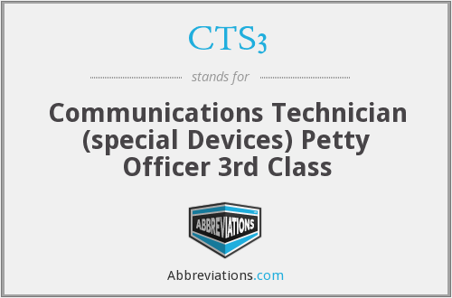 CTS3 - Communications Technician (special Devices) Petty Officer 3rd Class