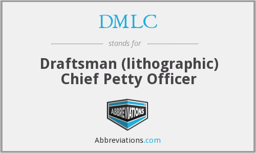 DMLC - Draftsman (lithographic) Chief Petty Officer