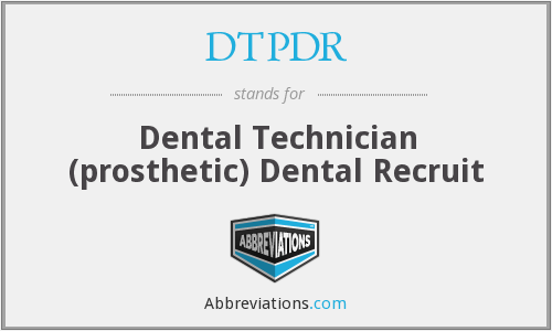 What does DTPDR stand for?