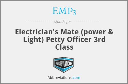 EMP3 - Electrician's Mate (power & Light) Petty Officer 3rd Class