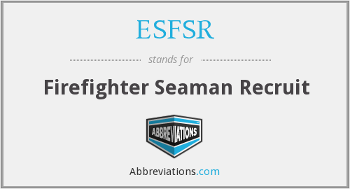 What does ESFSR stand for?