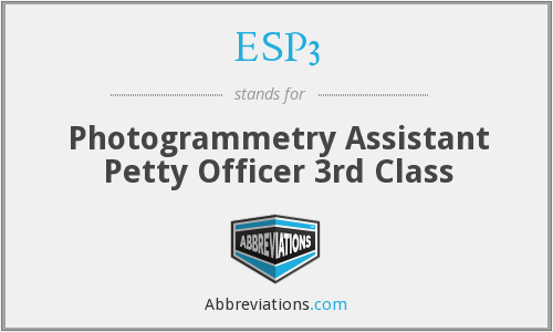 ESP3 - Photogrammetry Assistant Petty Officer 3rd Class