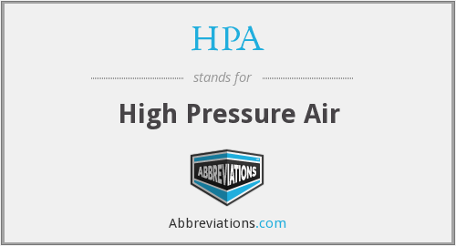 HPA - High Pressure Air