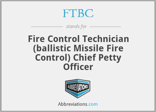 FTBC - Fire Control Technician (ballistic Missile Fire Control) Chief Petty Officer