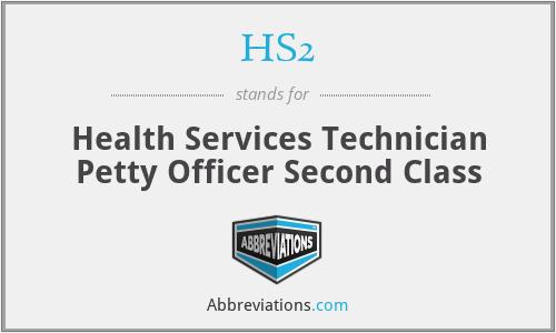 HS2 - Health Services Technician Petty Officer Second Class
