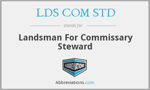 What does LDS COM STD stand for?